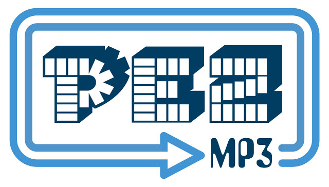 Pez MP3 logo design