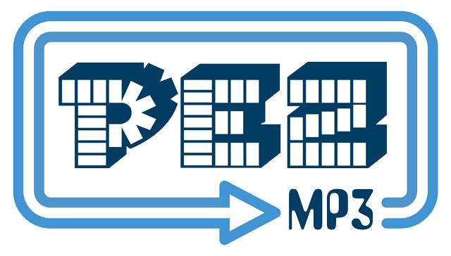 Pez MP3 logo design
