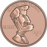 Cartoon United States Penny (One Cent)