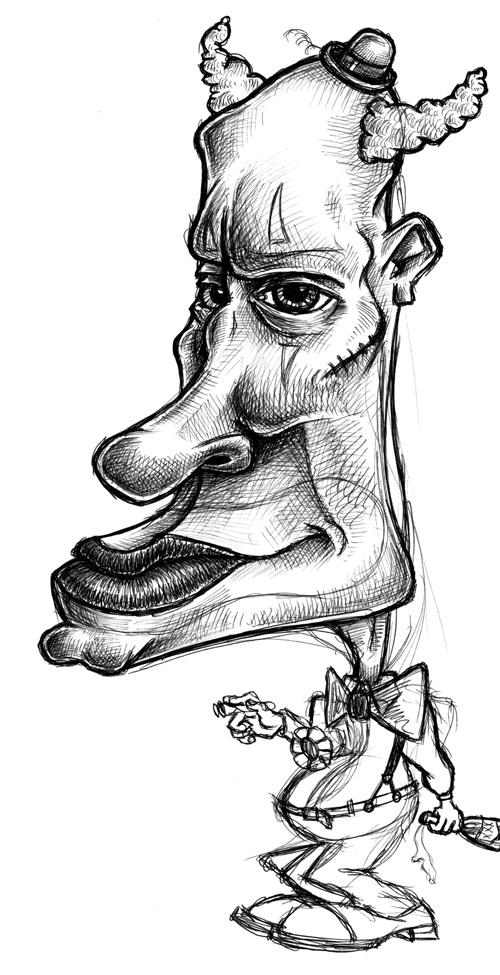evil cartoon drawings - 500×975