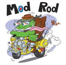 Odd Rods inspired scooter hot rod cartoon art