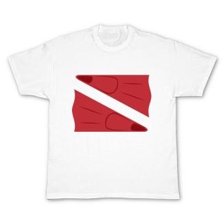 SCUBA/snorkeling fin dive flag t-shirt design