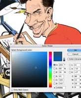 MAD Magazine cartoonist Tom Richmond digital coloring tutorial screenshot