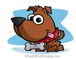 Puppy Dog Cartoon Character Mascot Illustration