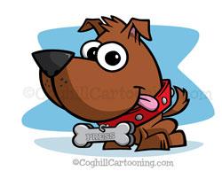 Puppy Dog Cartoon Character Mascot Illustration