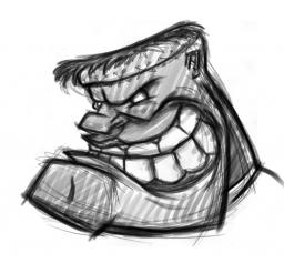 Cartoon character Frankenstein monster sketch