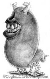 Cartoon teeth creature sketch