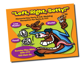 Left, Right, Setty! cartoon poster