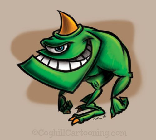 Monster Monday: ogre cartoon character creature mascot illustration
