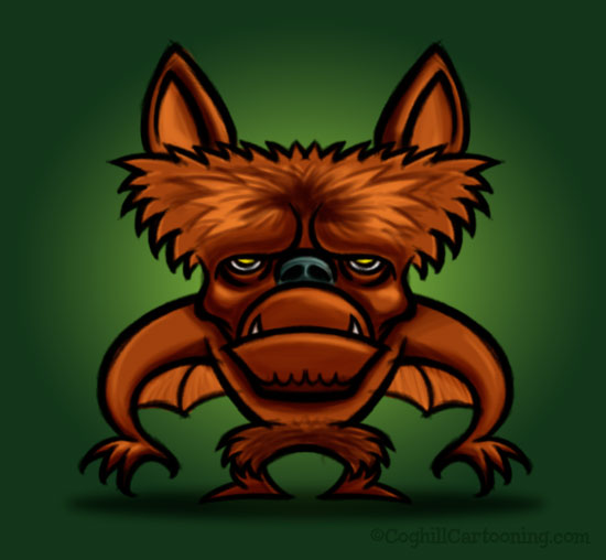 Monster Monday: Monkey Bat cartoon character creature mascot illustration