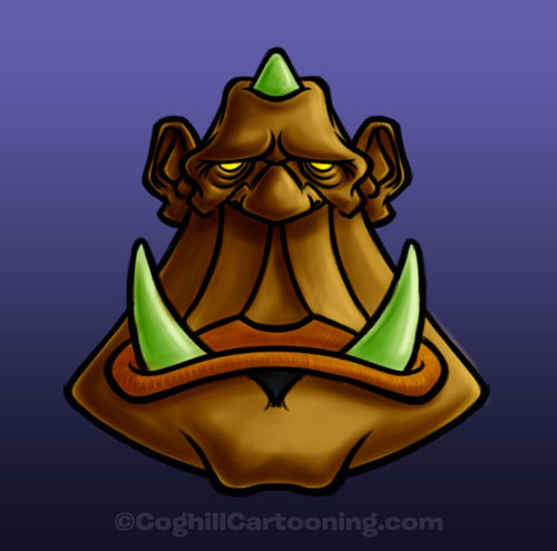Oblong Ogre cartoon monster illustration