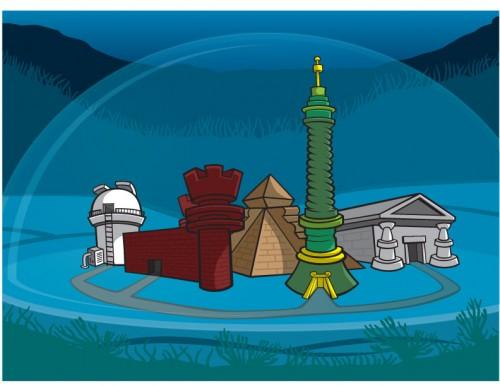 Lost City underwater city illustration