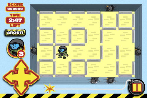 Bomb Sweeper iPhone game design - main screen