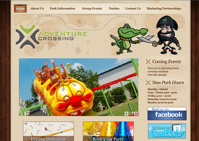 Adventure Crossing website screenshot