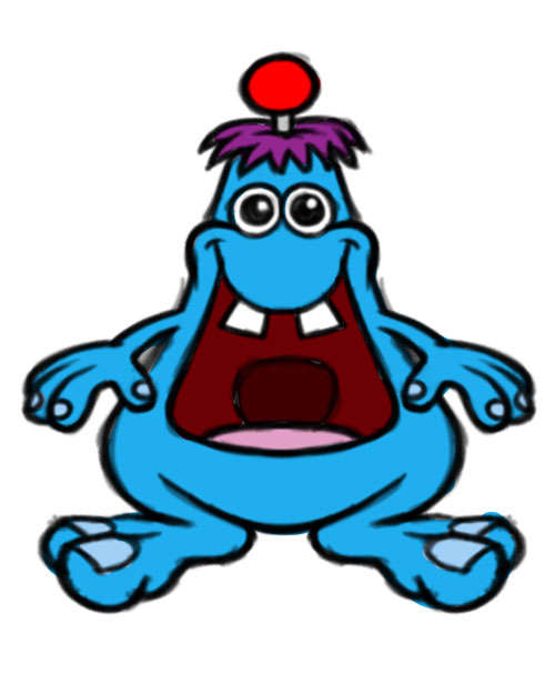 Zuhu cartoon character color sketch