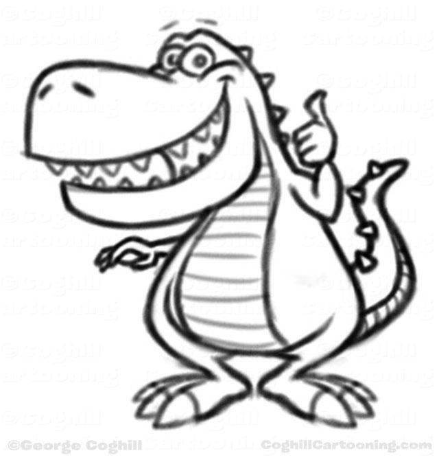 Dinosaur Cartoon Character SketchDinosaur cartoon character sketch