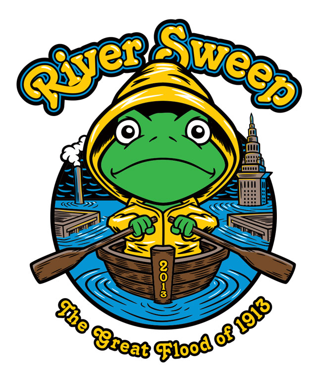 River Sweep 2013 t-shirt artwork.