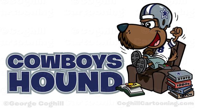 Cowboys Hound Dallas Cowboys Football Fan Dog Cartoon Logo