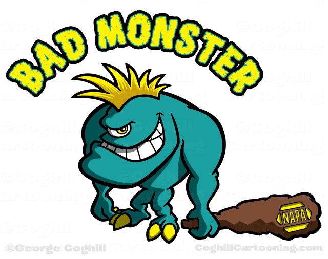 Cartoon monster character art