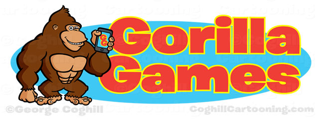Gorilla Games cartoon logo smartphone art
