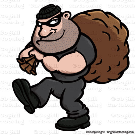 cartoon burglar clip art stock illustration coghill cartooning rh blog coghillcartooning com burglar alarm clipart cartoon burglar clipart