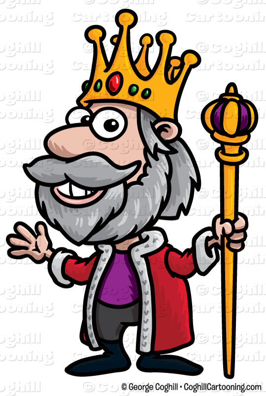 cartoon king clip art stock illustration coghill cartooning rh blog coghillcartooning com king clipart black and white king clip art for silhouette