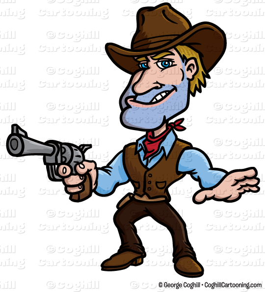 cartoon gunslinger cowboy clip art stock illustration coghill rh blog coghillcartooning com clip art stacked coins clip art stockade