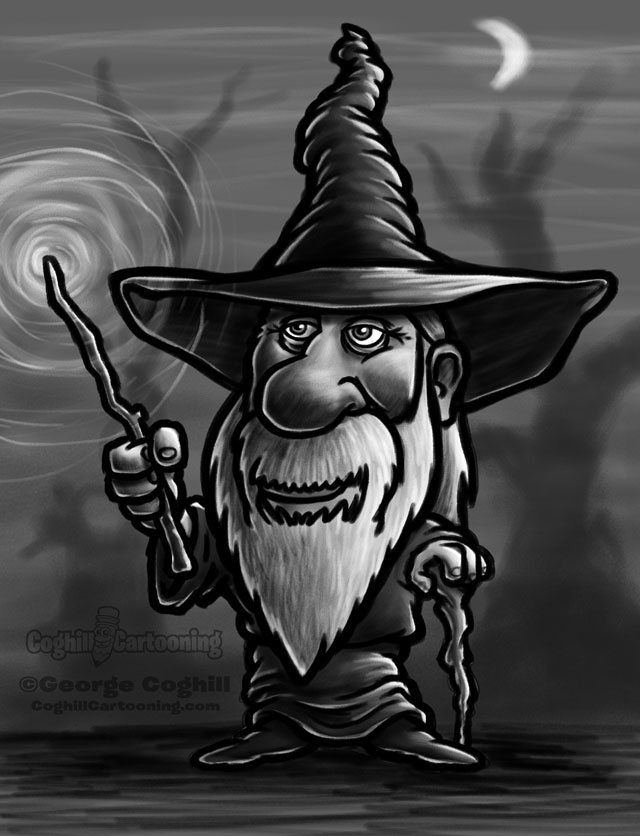 Wizard cartoon character sketch