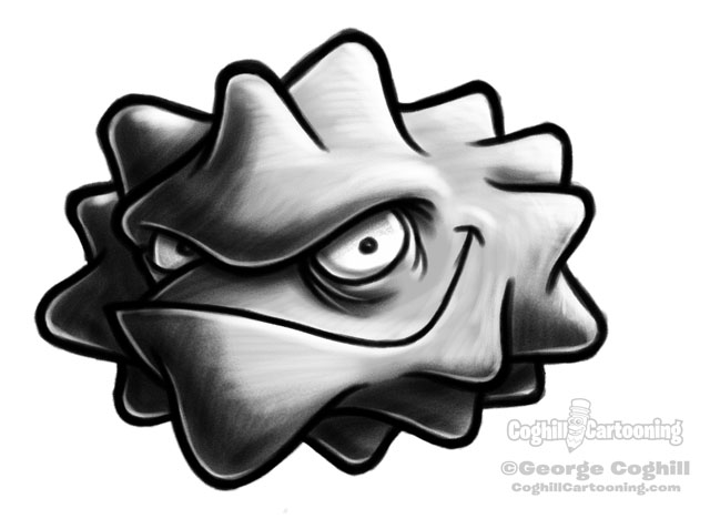 Germ Cartoon Character Sketch 4