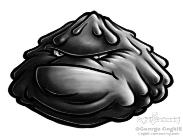 Germ Cartoon Character Sketch 7