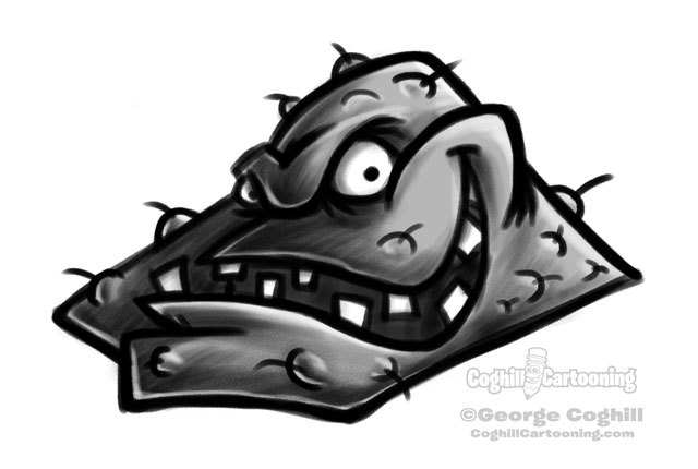 Germ cartoon character sketch