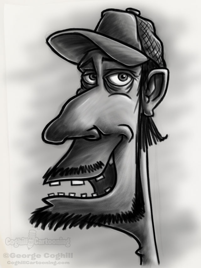Redneck 1 Cartoon Character Sketch