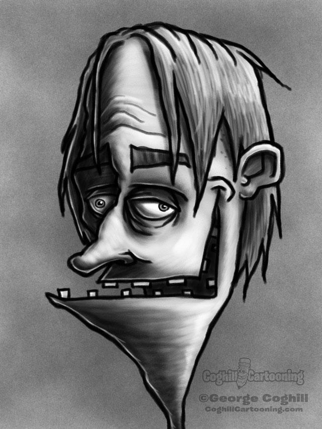 Weirdo 1 Cartoon Character Sketch