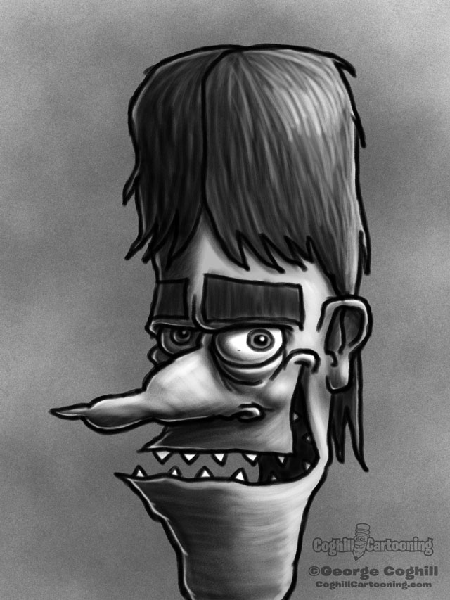Weirdo 2 Cartoon Character Sketch