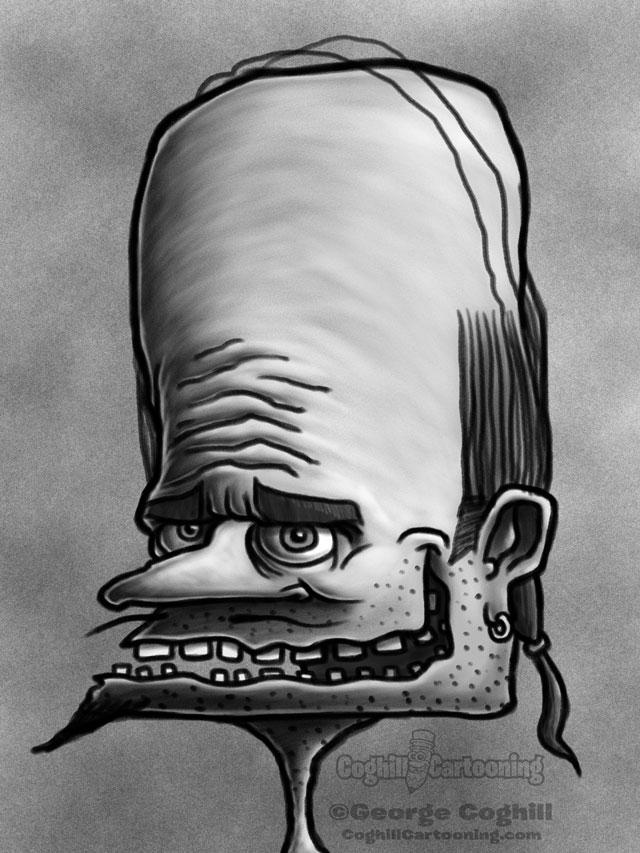Weirdo 4 Cartoon Character Sketch
