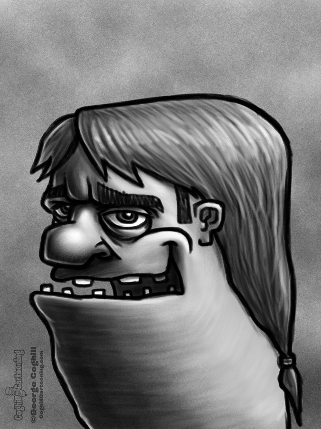 Weirdo 8 Cartoon Character Sketch