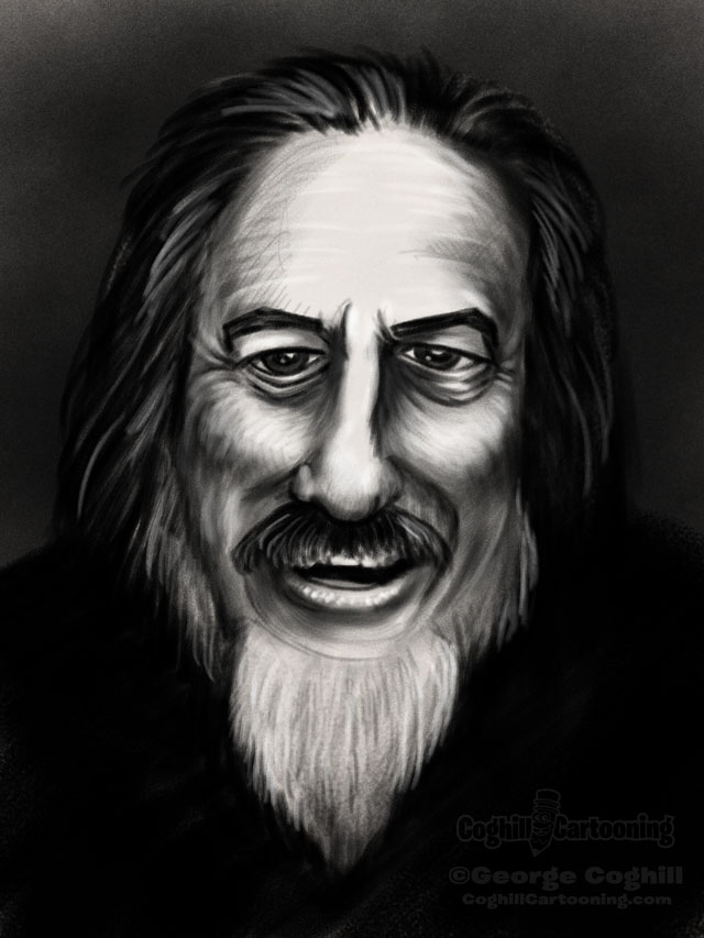 Alan Watts Portrait 4 Sketch
