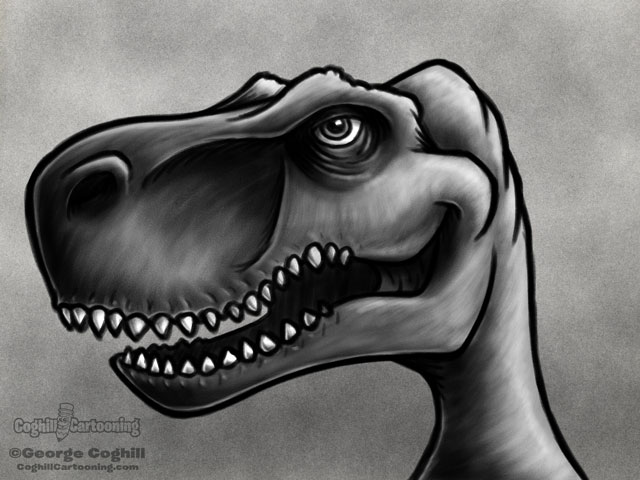 Dinosaur 2 - T-Rex Cartoon Character Sketch
