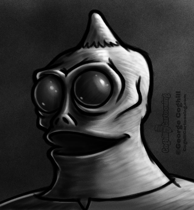 Sleestak 1 Cartoon Character Daily Sketch