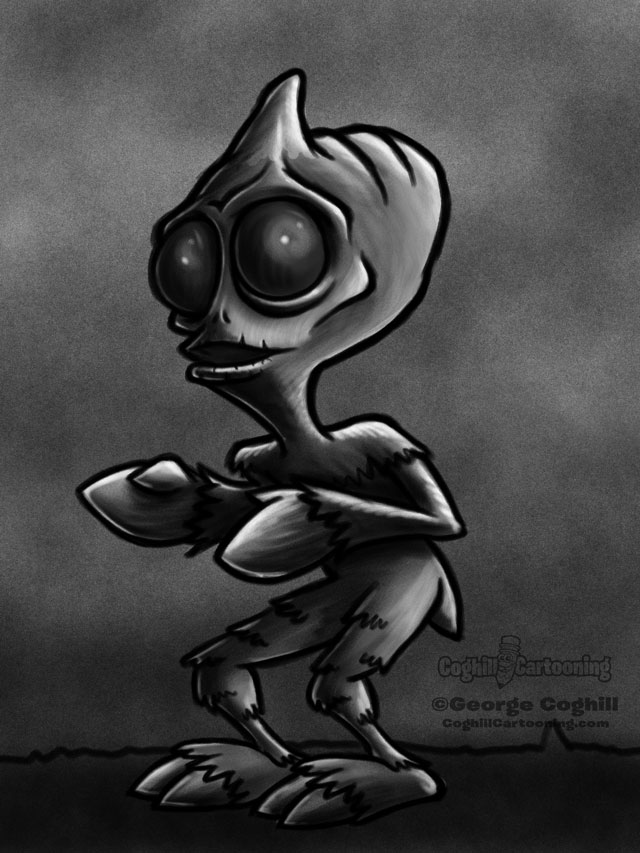 Sleestak 3 Cartoon Character Sketch
