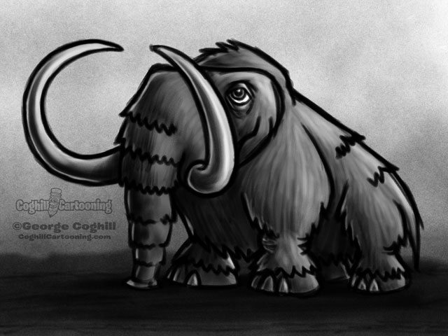Wooly Mammoth 1 Cartoon Character Sketch