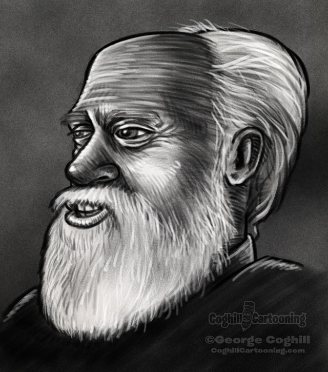 Robert Anton Wilson Portrait 1 Sketch