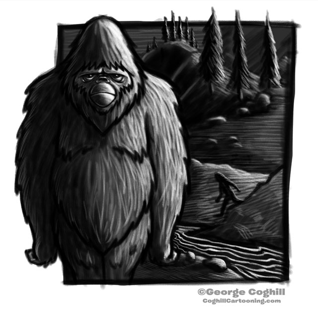 Bigfoot Cartoon Character Sketch