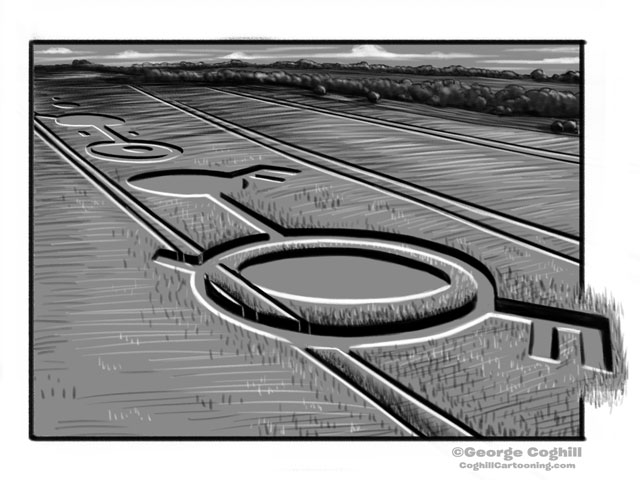 Crop Circles Cartoon Sketch
