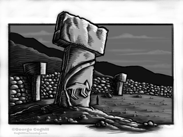 Gobekli Tepe Cartoon Monument Sketch