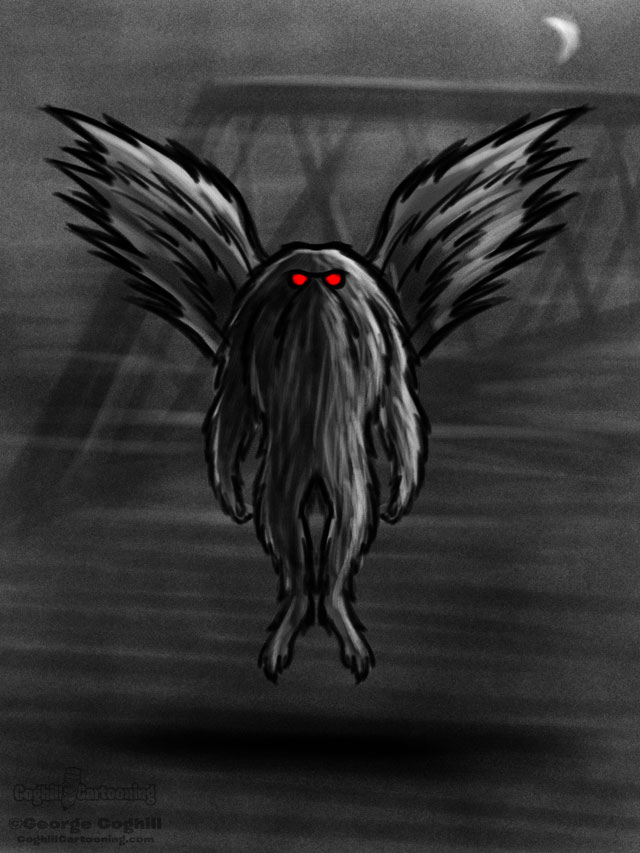 Mothman Cartoon Character Sketch