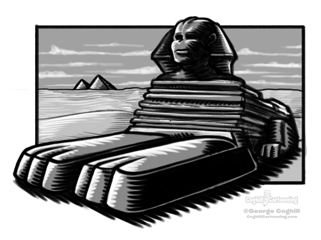 Sphinx Cartoon Sketch