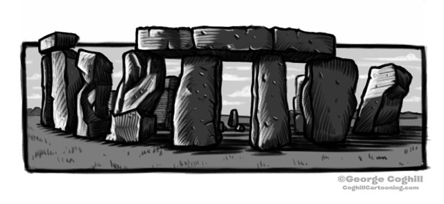Stonehenge Cartoon Sketch