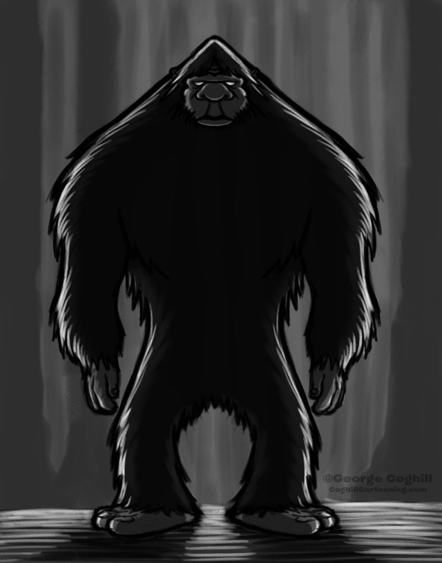 Bigfoot Cartoon Character Sketch 02