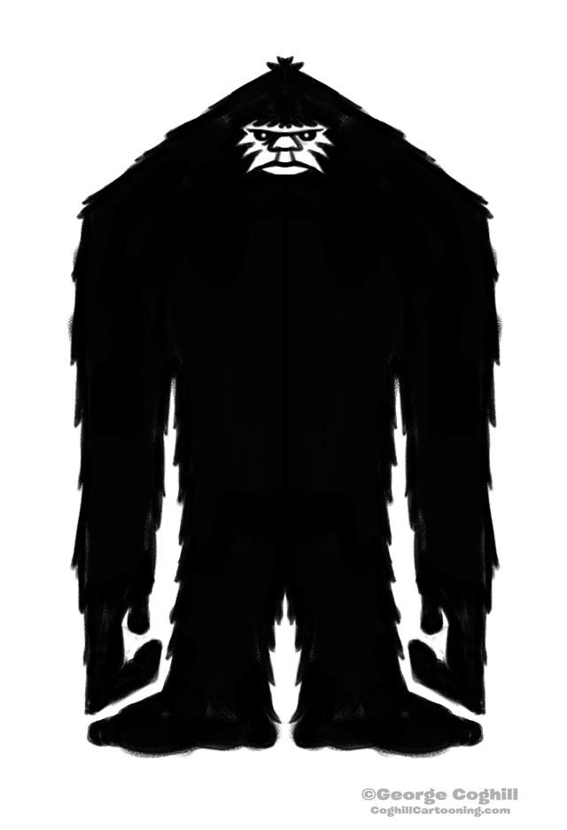 Bigfoot Rectangular Silhouette Sketch